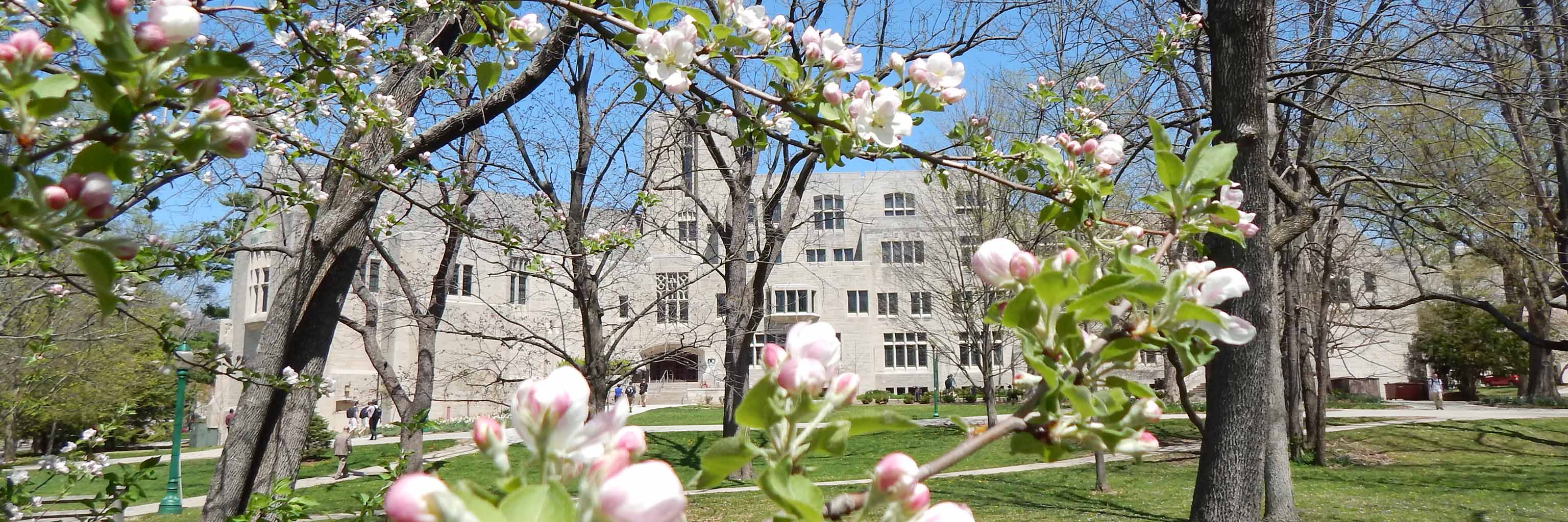 Woodburn Hall with flowers