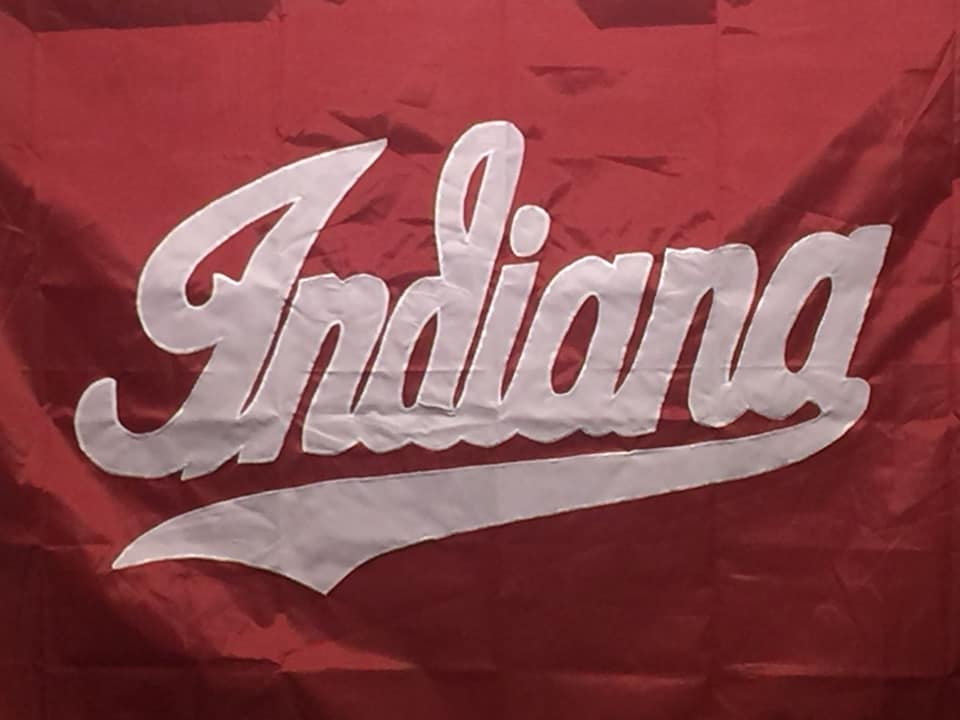 Indiana University red and white flag