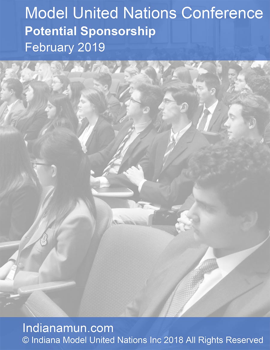 Model United Nations Conference booklet cover